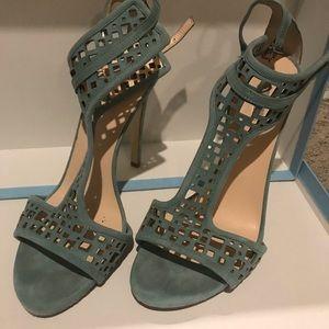 Georgio Armani suede leather sandals, blue.